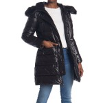 Belted Faux Fur Hooded Jacket