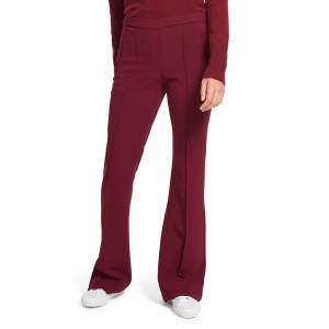 Demitria Pintuck Flare Pull-On Wool Blend Pants