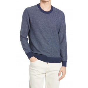 Jacquard Cashmere Mens Crewneck Sweater