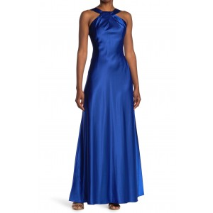 Halter Satin Knot Gown