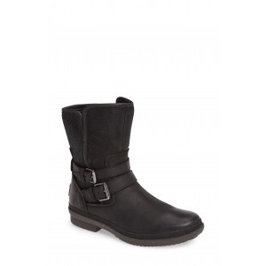 Simmens Genuine Shearling Lined Waterproof Leather Boot