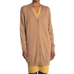 Longline Wool Blend Cardigan