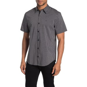Short Sleeve Plaid Print Regular Fit Shirt