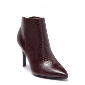 Franky Texture Embossed Pointed Toe Bootie