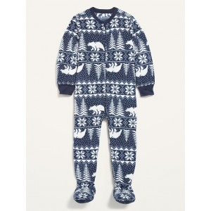 Unisex Micro Fleece Fair Isle Footie Pajama One-Piece for Toddler & Baby