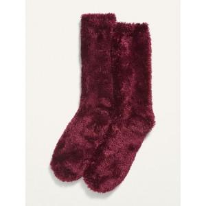 Cozy Eyelash Crew Socks for Women