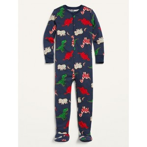 Unisex Christmas-Print Footie Pajama One-Piece for Toddler & Baby