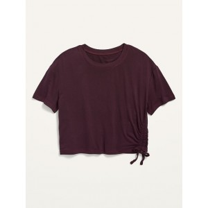 Luxe Short-Sleeve Side-Tie Top for Girls