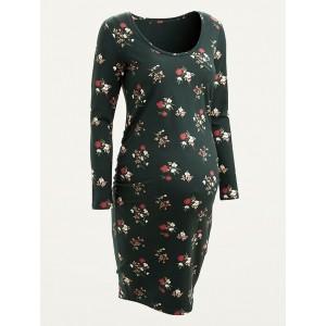 Maternity Jersey-Knit Bodycon Dress