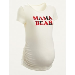 Maternity Graphic Side-Ruched Tee