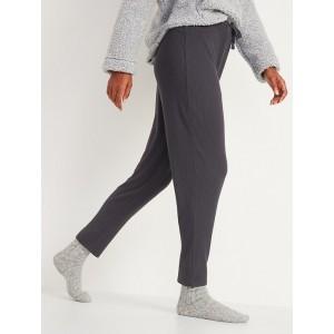 Cozy Thermal-Knit Drop-Crotch Lounge Pants for Women
