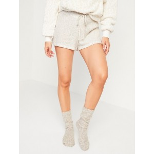 High-Waisted Cozy Thermal-Knit Pajama Shorts for Women  2.5-inch inseam
