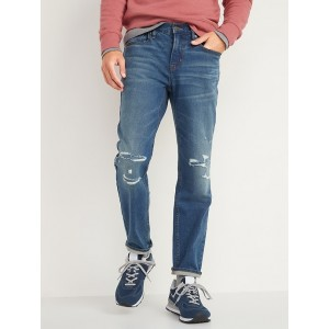 Athletic Taper Built-In Flex Ripped Jeans for Men