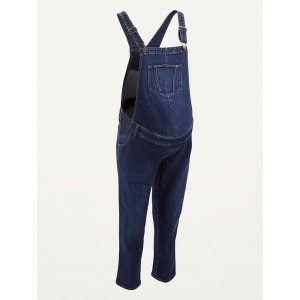 Maternity Side-Panel Jean Overalls