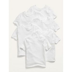 Unisex 6-Pack Short-Sleeve Crew-Neck T-Shirt for Toddler