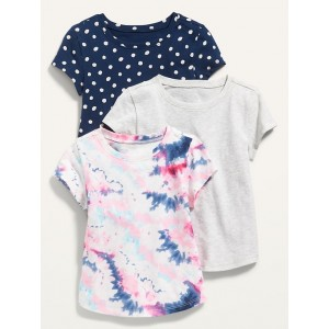 Unisex 3-Pack Short-Sleeve T-Shirt for Toddler