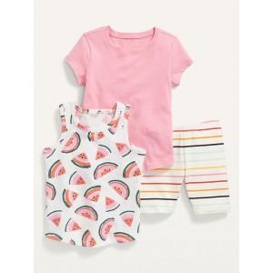 T-Shirt, Tank Top & Biker Shorts 3-Pack for Toddler