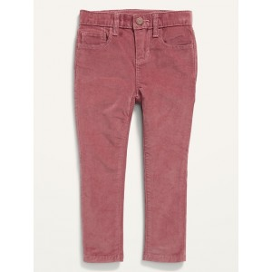 Built-In Warm Rockstar Super Skinny Corduroy Pants for Toddler Girls