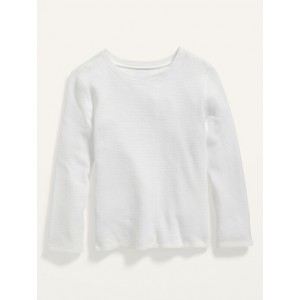 Unisex Long-Sleeve Solid Thermal T-Shirt for Toddler