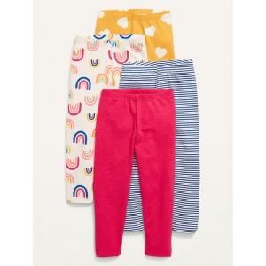 4-Pack Full-Length Jersey Leggings for Toddler Girls