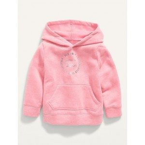 Unisex Foil Logo-Graphic Pullover Hoodie for Toddler