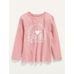 Unisex Long-Sleeve Thanksgiving-Graphic T-Shirt for Toddler
