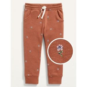 Functional-Drawstring Jogger Sweatpants for Toddler Girls