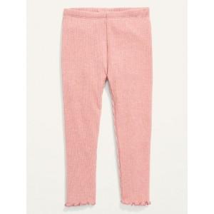 Full-Length Rib-Knit Leggings for Toddler Girls