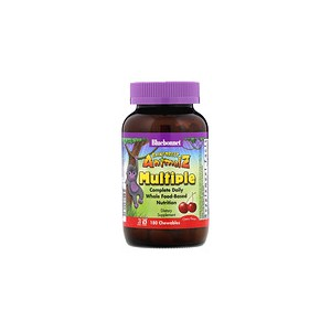 Bluebonnet Nutrition Rainforest Animalz Complete Daily Multiple Cherry Flavor 180 Chewables