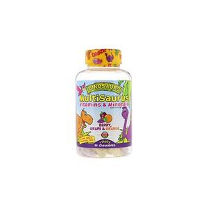 KAL Dinosaurs MultiSaurus Vitamins & Minerals Berry Grape & Orange 90 Chewables