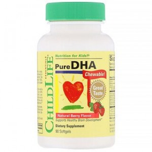 ChildLife Pure DHA Natural Berry Flavor 90 Softgels