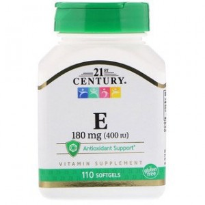 21st Century Vitamin E 180 mg (400 IU) 110 Softgels