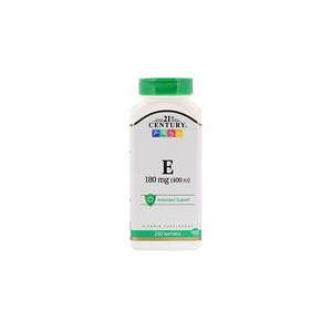 21st Century Vitamin E 180 mg (400 IU) 250 Softgels