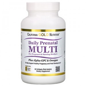 California Gold Nutrition Prenatal Multi for Pregnant & Nursing Mothers 60 Fish Gelatin Softgels