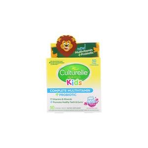 Culturelle Kids Complete Multivitamin + Probiotic Fruit Punch 50 Chewable Tablets