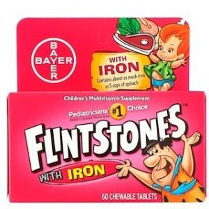 Flintstones Childrens Multivitamin with Iron Fruit Flavors 60 Chewable Tablets