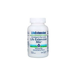 Life Extension Childrens Formula Life Extension Mix Natural Berry Flavor 120 Chewable Tablets