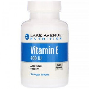 Lake Avenue Nutrition Vitamin E 400 IU 120 Veggie Softgels