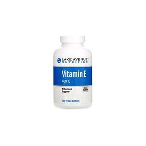 Lake Avenue Nutrition Vitamin E 400 IU 360 Veggie Softgels