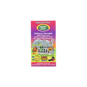 Natures Plus Source of Life Animal Parade Childrens Chewable Natural Assorted Flavors 90 Animals