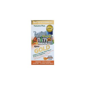 Natures Plus Source of Life Animal Parade Gold Childrens Chewable Multi-Vitamin & Mineral Supplement Natural Orange Flavor 120 Animal Shaped Tablets