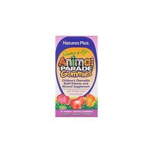 Natures Plus Source of Life Animal Parade Gummies Childrens Chewable Cherry Orange & Grape 75 Animal-Shaped Gummies