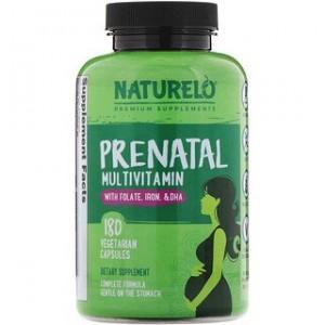NATURELO Prenatal Multivitamin 180 Vegetarian Capsules
