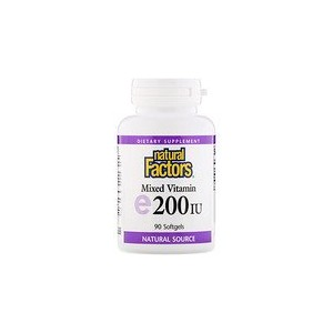 Natural Factors Mixed Vitamin E 200 IU 90 Softgels