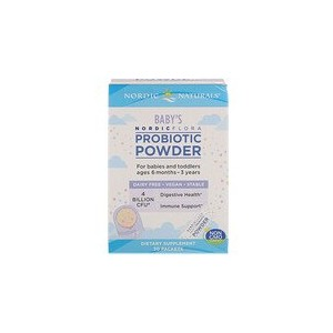 Nordic Naturals Nordic Flora Babys Probiotic Powder 4 Billion CFU 30 Packets