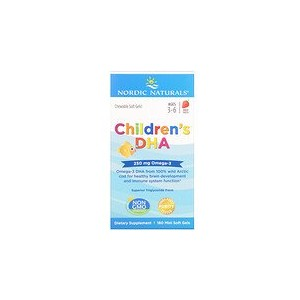 Nordic Naturals Childrens DHA Strawberry 180 Mini Soft Gels