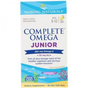Nordic Naturals Complete Omega Junior Lemon 283 mg 90 Mini Soft Gels