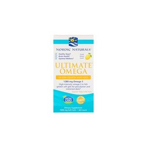 Nordic Naturals Ultimate Omega Lemon 1000 mg 60 Soft Gels