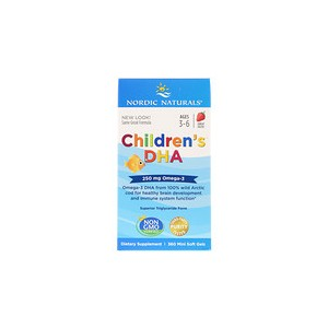 Nordic Naturals Childrens DHA Strawberry 360 Mini Soft Gels