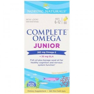 Nordic Naturals Complete Omega Junior Lemon 180 Mini Soft Gels